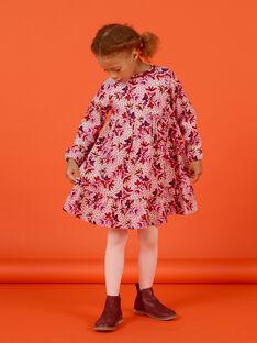 Vestido de pana con estampado floral para niña MACOMROB1 / 21W901L1ROBD329