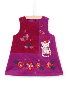 Vestido violeta sin mangas para bebé niña MIPAROB3 / 21WG09H4ROB712