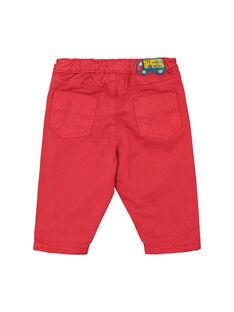 Pantalón de color rojo para bebé niño FUJOPAN1 / 19SG1031PANF505