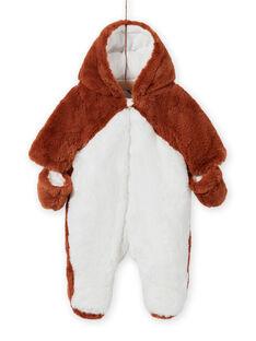 Buzo bicolor con estampado de zorro para recién nacido unisex MOU1PIL2 / 21WF0542PILI810