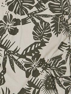 Bermudas cargo de color beige con estampado de hojas para niño JODUBER3 / 20S902O3BER808