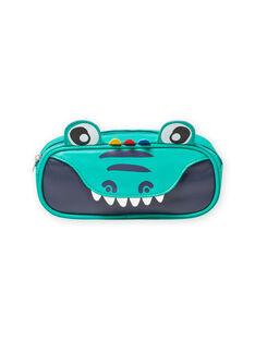 Neceser verde con estampado de cocodrilo para niño MYOCLATROU / 21WI02G1TROG614
