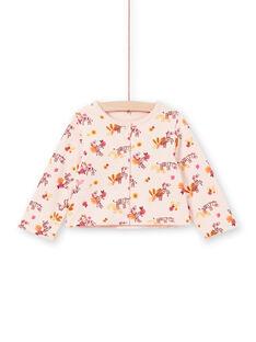 Cárdigan rosa reversible para bebé niña LITERCAR / 21SG09V1CARD322