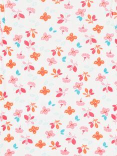 Body de manga larga con estampado floral, para niña LEFIBODBOU / 21SH1327BDL001