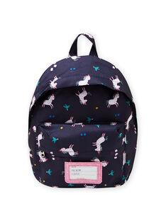 Mochila con estampado de unicornio, flor y pájaro para niña MYACLABAG / 21WI01G1BESC205