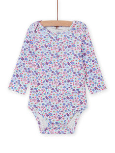 Body de manga larga con estampado floral para bebé niña MEFIBODLIB / 21WH13C6BDL001