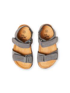 Sandalias lisas de color gris para bebé niño LBGNUGRIS / 21KK3855D0E940