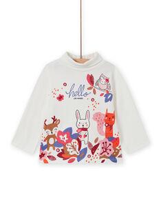Jersey fino de cuello alto con estampado animal y de fantasía para bebé niña MIFUNSOUP / 21WG09M1SPL001
