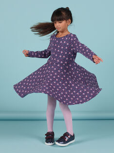 Vestido evasé con estampado floral para niña MAPLAROB3 / 21W901O3ROBC202