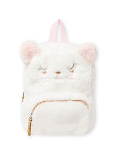 Mochila rosa con estampado de gato de pelo artificial para bebé niña MYICLASAC / 21WI09G1BES001