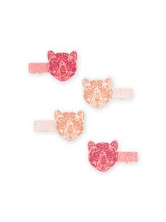 Pack de 4 horquillas de leopardo con brillo para niña MYAJOCLIC1 / 21WI01S1BRT953