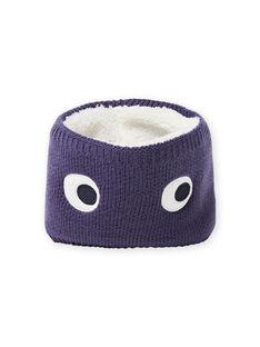 Cuello de punto de color azul noche con estampado de ojos para bebé niño MYUTUSNOO / 21WI1051SNOC234