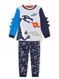 Pijama con estampado de dragón fosforescente para niño MEGOPYJGON / 21WH1295PYJJ922
