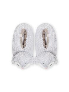 Zapatillas de casa de color gris de pingüino 3D para niña MAPANTPING3D / 21XK3531PTD940