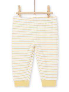 Conjunto de polo de manga larga con estampado de mono, y leggings de rayas para niño recién nacido LOU1ENS3 / 21SF04H1ENS000