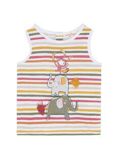 Camiseta de tirantes de color crudo JUDUDEB / 20SG10O1DEB001