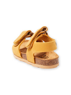 Sandalias lisas amarillas para bebé niño LBGNUJAUNE / 21KK3852D0E010