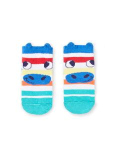 Calcetines de rayas de colores con estampado de cara de cebra para bebé niño JYUMARCHO1 / 20SI10P2SOQ000