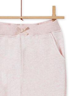 Pantalón de chándal de color rosa jaspeado para niña MAJOBAJOG2 / 21W90111JGBD314