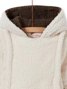 Buzo de color crudo de sherpa con oso para bebé niño MUGROPIL / 21WG1061PIL001