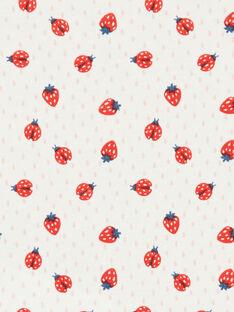 Body de algodón con estampado de fresas, de color crudo y rojo, para bebé niño LEFIBODANI / 21SH132CBDL001