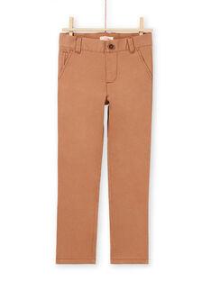 Pantalón liso de color marrón para niño MOESPACHI2 / 21W902E1PANI810