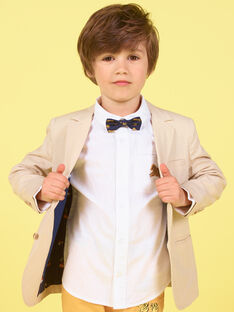 Chaqueta beige para niño LOJAUVES / 21S902O1VESA014