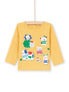 Camiseta amarilla para bebé niño MUMIXTEE2 / 21WG10J3TML117