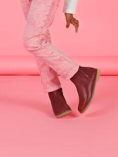 Botines de color borgoña para niña MABOOTVIN / 21XK3573D0D719