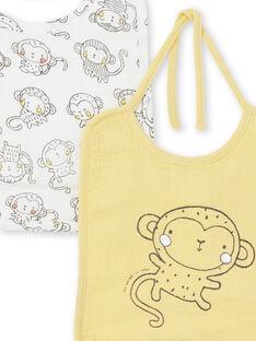 Pack de 2 baberos para niño recién nacido LOU1BAV2 / 21SF41H1BAV103