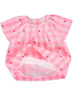 Baby girls' checked smock CIHOCHEM / 18SG09E1CHE099