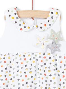 Pelele de color blanco y amarillo de lunares para recién nacida LOU2BAR / 21SF03I1BAR000