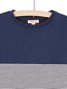 Camiseta azul marino y rojo para niño MOJOTIDEC1 / 21W90229TML705