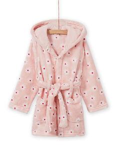 Bata rosa con estampado floral y detalle de perro para niña MEFAROBDOG / 21WH1181RDC307