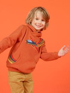 Sudadera naranja con estampado de avión colorido para niño MOCOSWE / 21W902L1SWE408