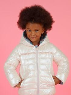 Anorak reversible con capucha y estampado floral para niña MAKADOUNE / 21W90152D3E612