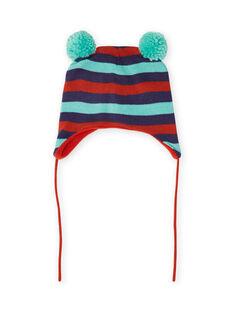 Gorro de rayas con borlas para bebé niño MYUGROBON / 21WI1054BONC234