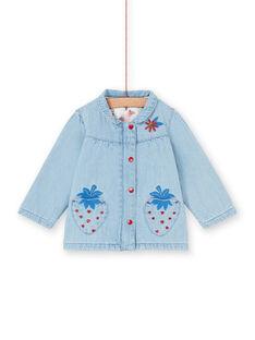Chaqueta vaquera de color azul, para bebé niña LICANVEST / 21SG09R1VESP272