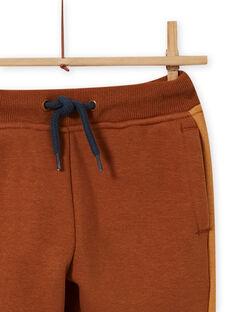 Pantalón de chándal camel con coches bordados para niño MOCOJOG / 21W902L1JGBI806
