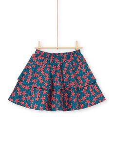 Falda-pantalón avolantada con estampado de estrella de mar para niña LABONJUP1 / 21S901W2JUP716