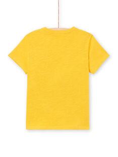 Camiseta amarilla de manga corta para niño LOTERTI2 / 21S902V5TMCB114