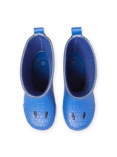 Botas de agua de color azul marino con estampado de dragón para niño MOPLUIDRAGO / 21XK3612D0C070