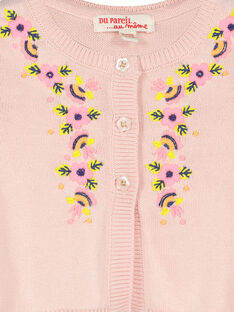 Cárdigan de algodón para bebé niña FIPOCAR2 / 19SG09C2CAR307