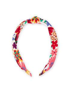 Diadema con estampado floral para niña MYAJOSERR2 / 21WI01S1TET009