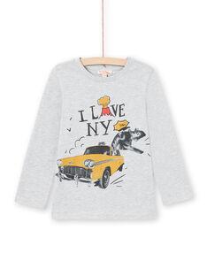 Camiseta de color gris jaspeado para niño MOJOTEE2 / 21W90227TMLJ922