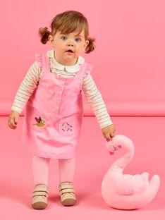 Vestido-peto rosa de pana para bebé niña MIKAROB2 / 21WG09I2ROBD316