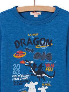 Camiseta azul con estampado de dragón para niño MOPLATEE2 / 21W902O1TML221