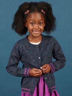 Cárdigan de manga larga de color azul noche con brillo para niña MAPACAR / 21W901H1CARC205