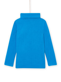 Jersey fino de color azul con estampado de dragón para niño MOSKISOUP / 21W902R1SPLC221