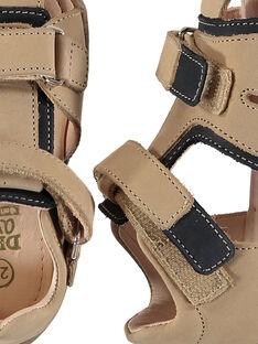 Sandalias de piel para bebé niño FBGSANDHER / 19SK38C3D0E080